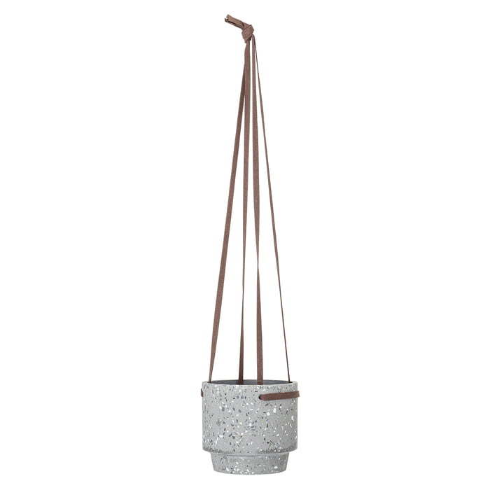 Bloomingville hanging basket, Ø 15 x H 13 cm made of concrete