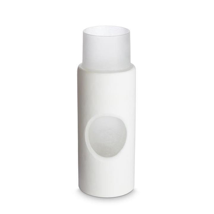 Carved vase by Tom Dixon, Ø 5 x H 23 cm in white