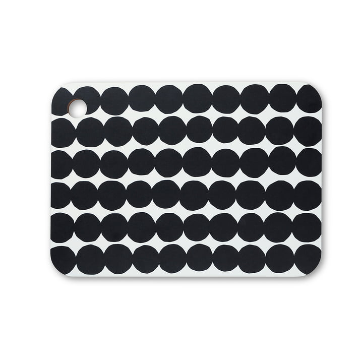 Räsymatto cutting board from Marimekko in black / white