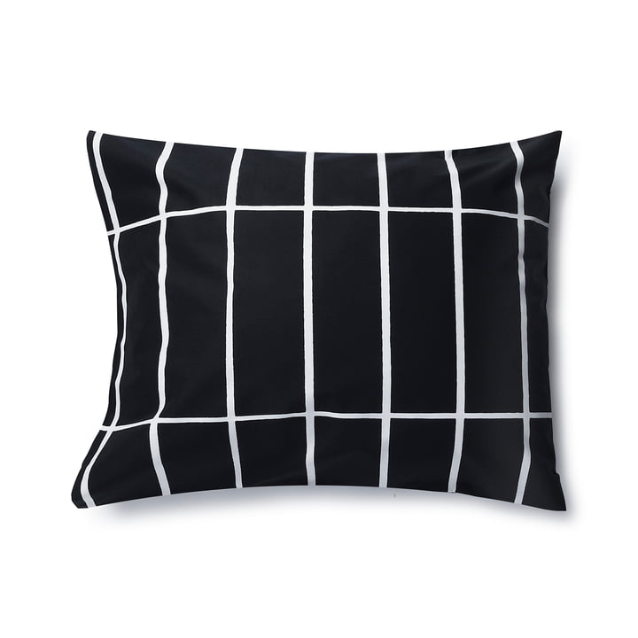 Tiiliskivi pillowcase by Marimekko, 50 x 60 cm in black / white