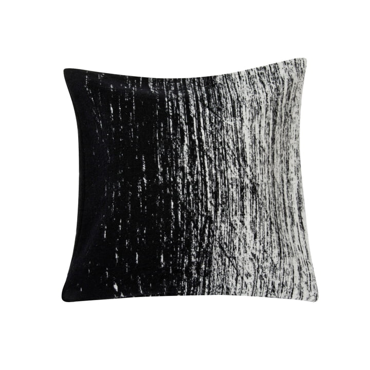 Kuiskaus cushion cover, 50 x 50 cm in black / white by Marimekko