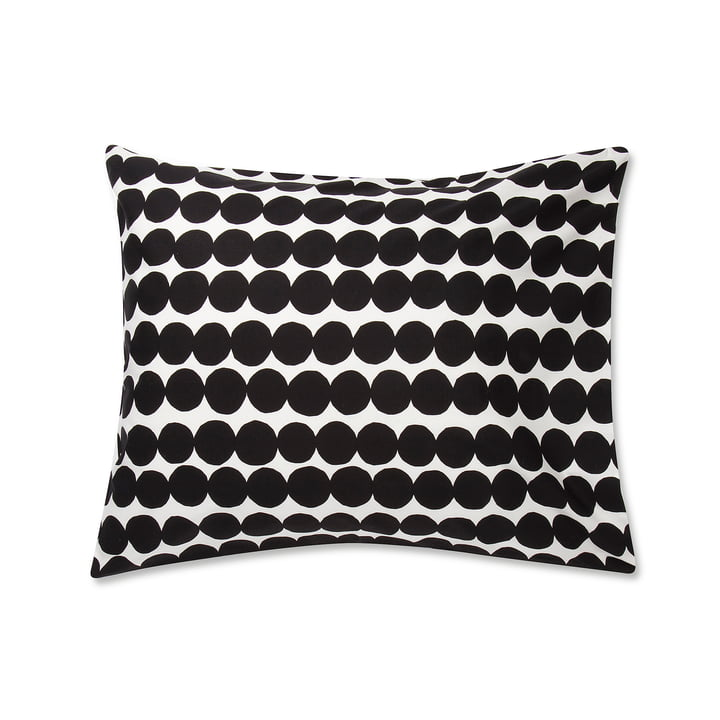 Räsymatto pillowcase by Marimekko, 50 x 60 cm in black / white