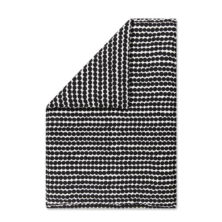 Räsymatto blanket cover by Marimekko, 150 x 210 cm in black / white