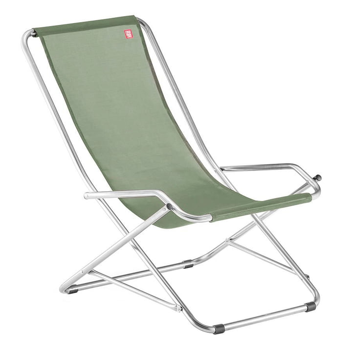 Recliner chair Dondolina in sage by Fiam