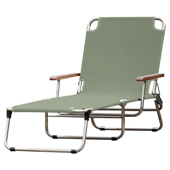 Amigo 40+ with armrest in sage from Fiam