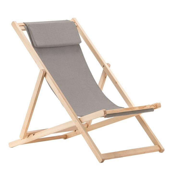 Relax deckchair, Robinia in light grey by Fiam