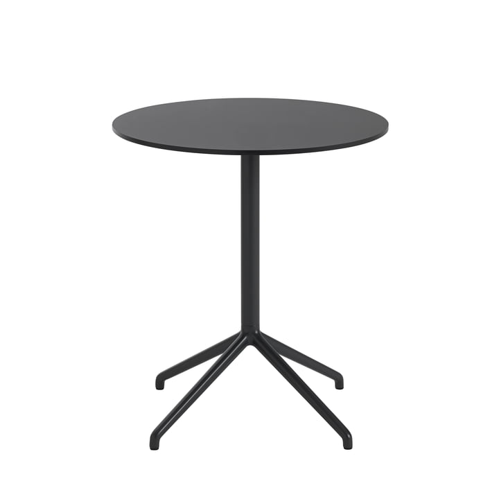 Still Café table, Ø 65 x H 73 cm in black by Muuto