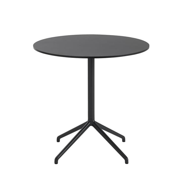 Still Café table, Ø 75 x H 73 cm in black by Muuto
