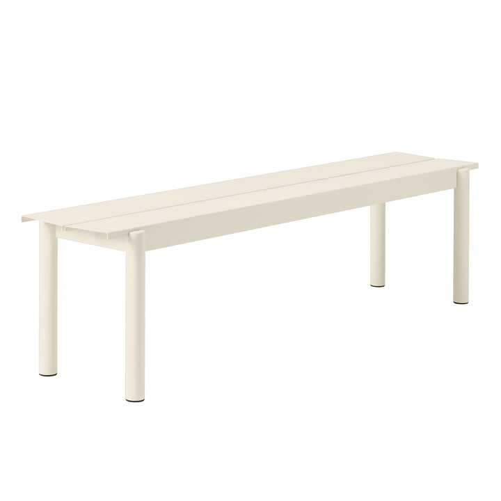 Linear Steel Bench 170 cm in white by Muuto