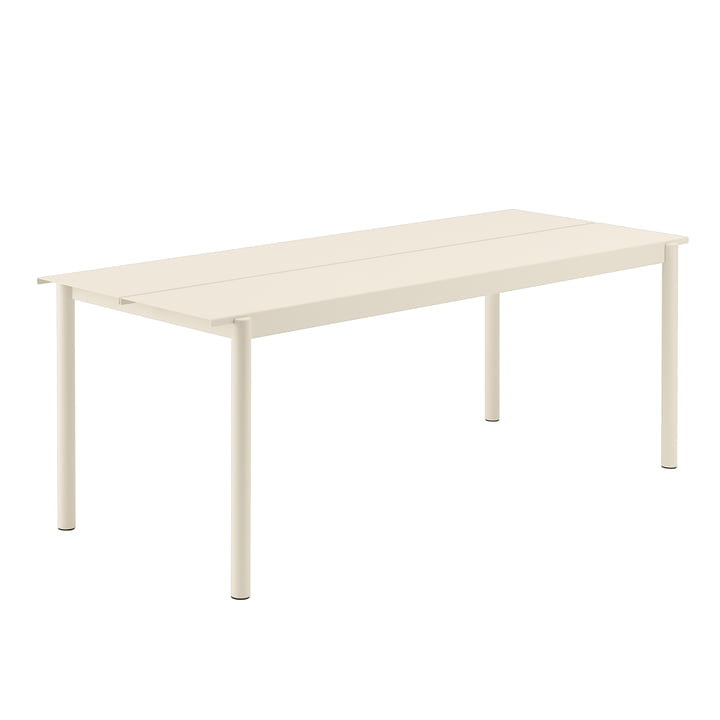 Linear Steel Table, 200 x 80 cm in white by Muuto
