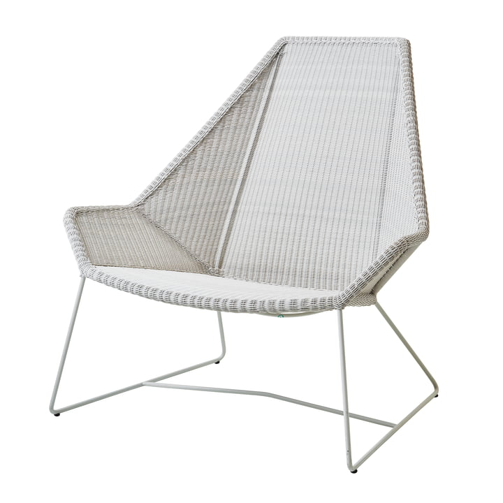 Breeze Highback armchair (5469) from Cane-line in white-grey