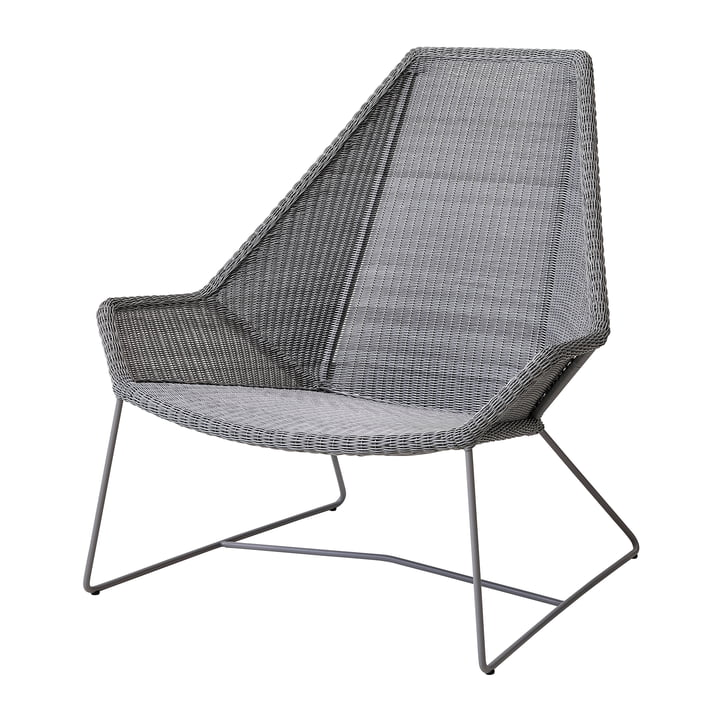 Breeze Highback armchair (5469) from Cane-line in light grey