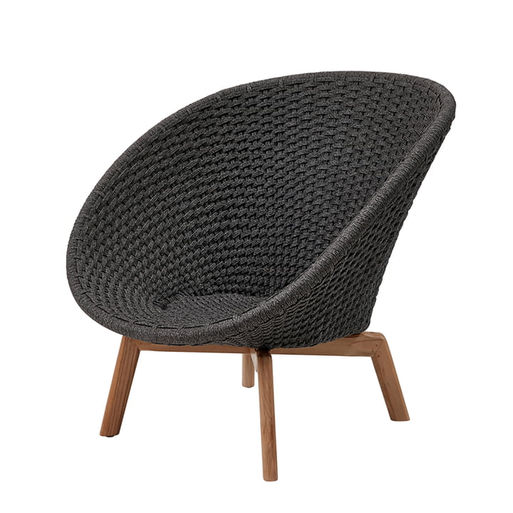 Peacock Lounge chair (5458) from Cane-line in teak / dark grey