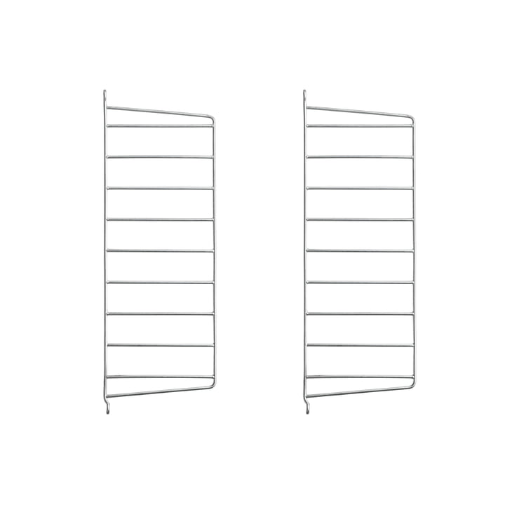 Wall ladder for String shelf 50 x 20 cm (set of 2) from String in zinc plated