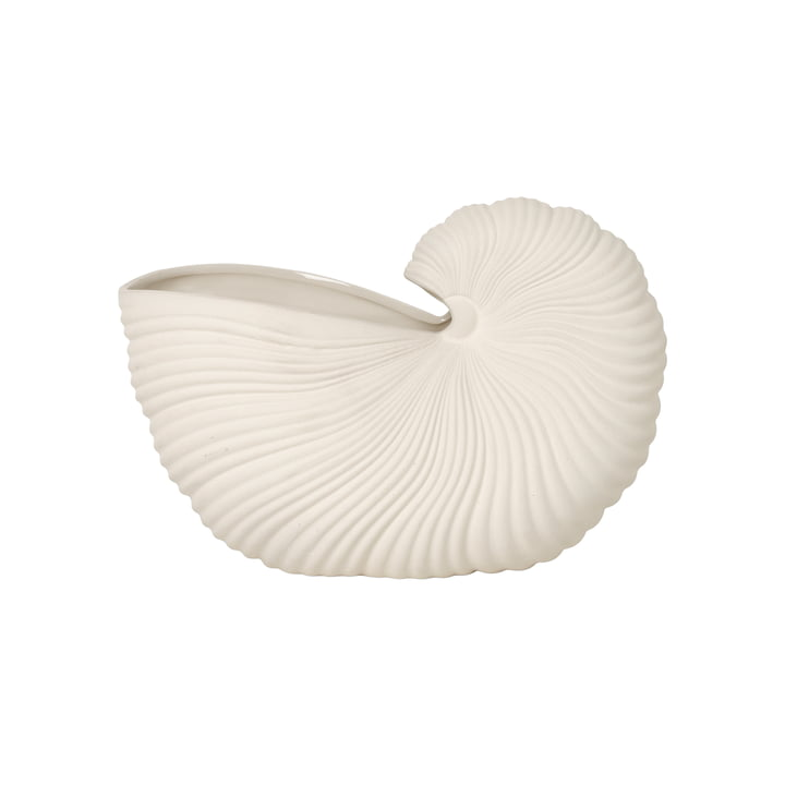 Shell Pot from ferm Living in off-white
