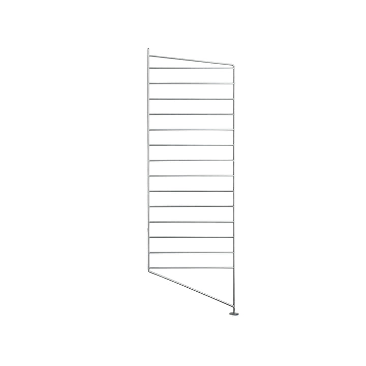 Floor ladder for string shelf 85 x 30 cm from string in zinc plated