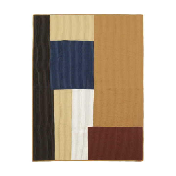 Shay Patchwork quilt from ferm Living in mustard