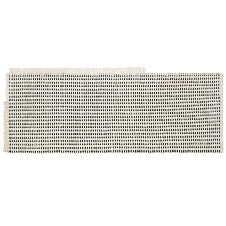 Way Outdoor runner 180 x 70 cm from ferm Living in off-white / blue