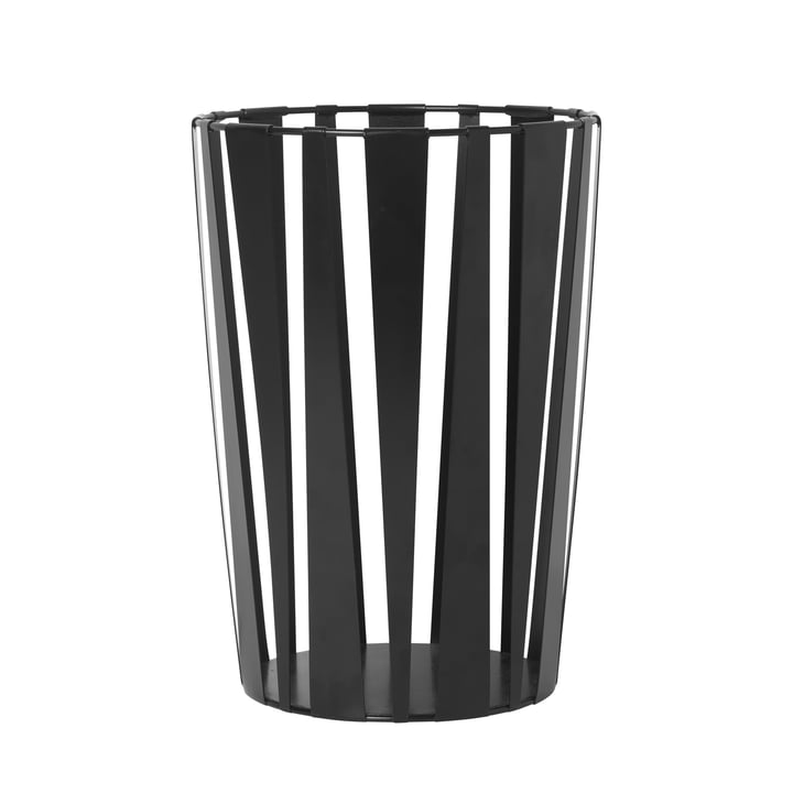 Rob metal basket in black by ferm Living