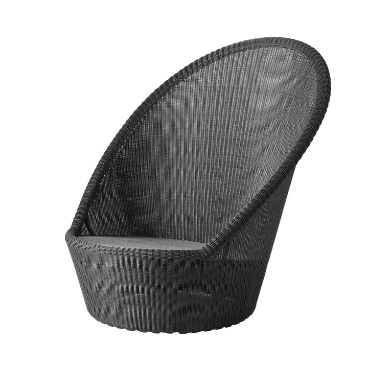 Kingston Sunchair with wheels (5448) from Cane-line in graphite
