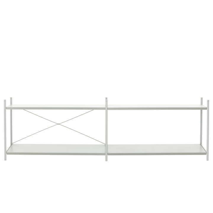 Punctual shelving system 2x2 in grey from ferm Living