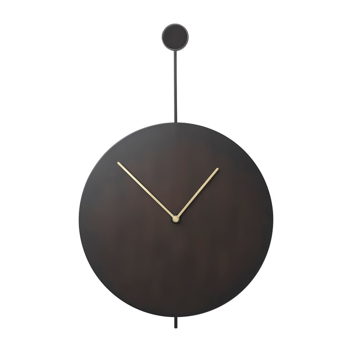 Trace wall clock in black / brass from ferm Living