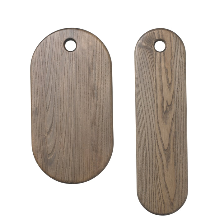 Stage cutting board (set of 2) in rustic grey by ferm Living
