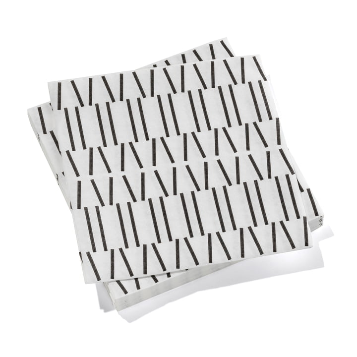 Paper Napkins large Broken Lines by Vitra in black