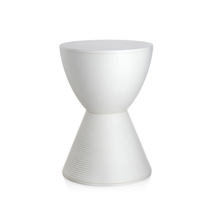 Prince AHA stool by Kartell in wax white