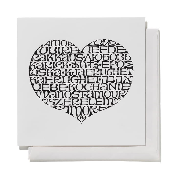 Greeting Card International Love Heart by Vitra