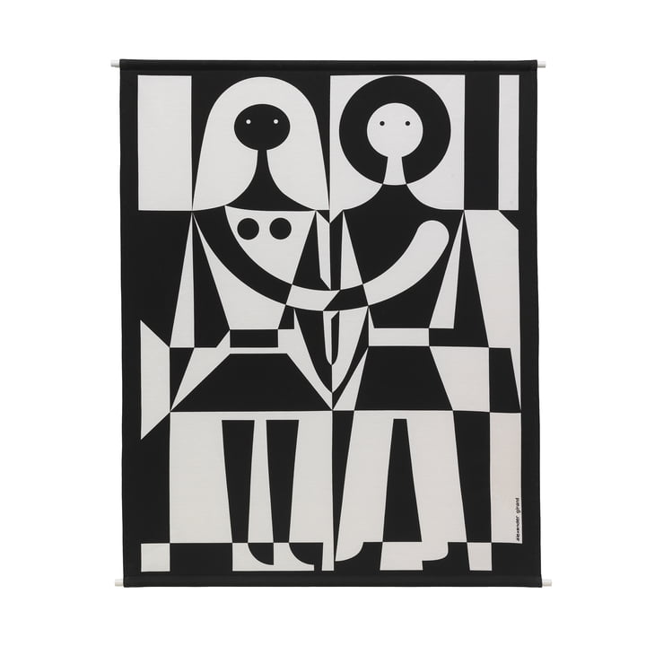 Environmental Wall Hanging Wall Panel 83 x 104,5 cm Black and White by Vitra