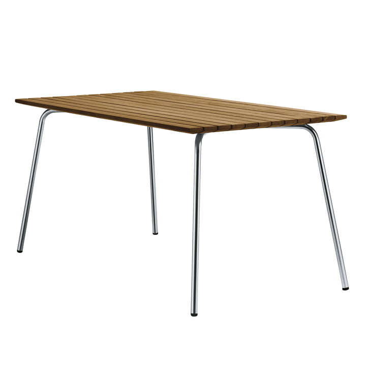 S 1040 garden table, 150 x 78 cm, frame stainless steel round tube / table top Iroko by Thonet