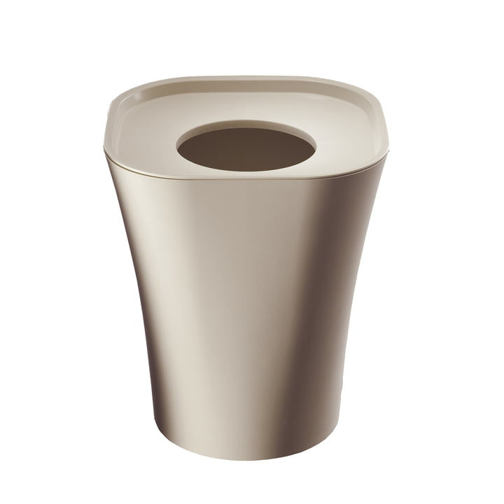 Trash wastepaper basket big by Magis in beige