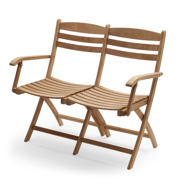 Selandia 2-seater bench from Skagerak in teak