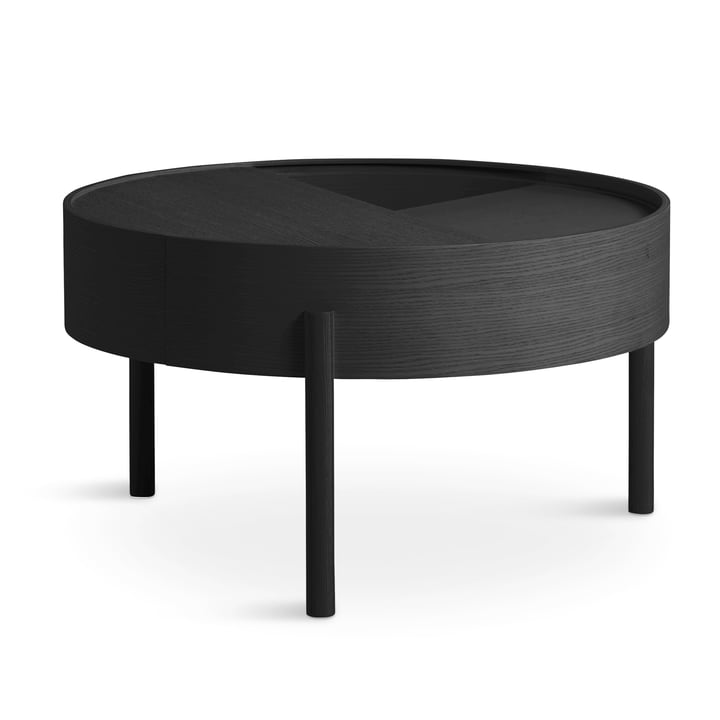 Arc coffee table Ø 66 cm H 38 cm from Woud in ash black lacquered