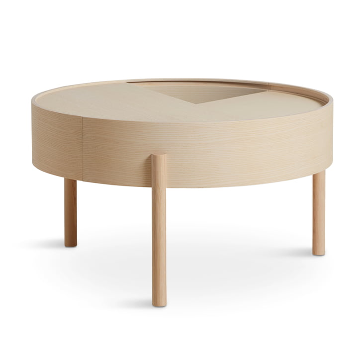 Arc coffee table Ø 66 cm H 38 cm from Woud in ash clear lacquered