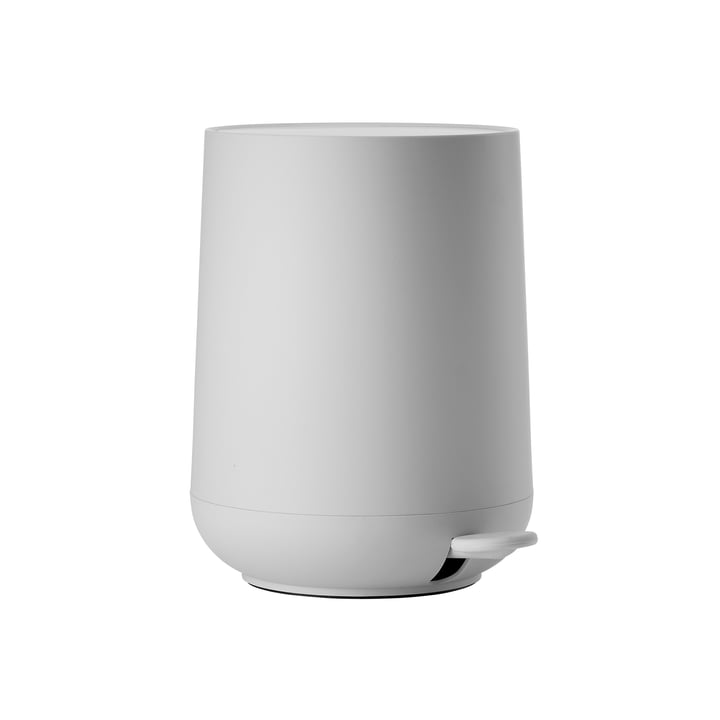 Nova pedal bin 3 L in soft gray from Zone Denmark
