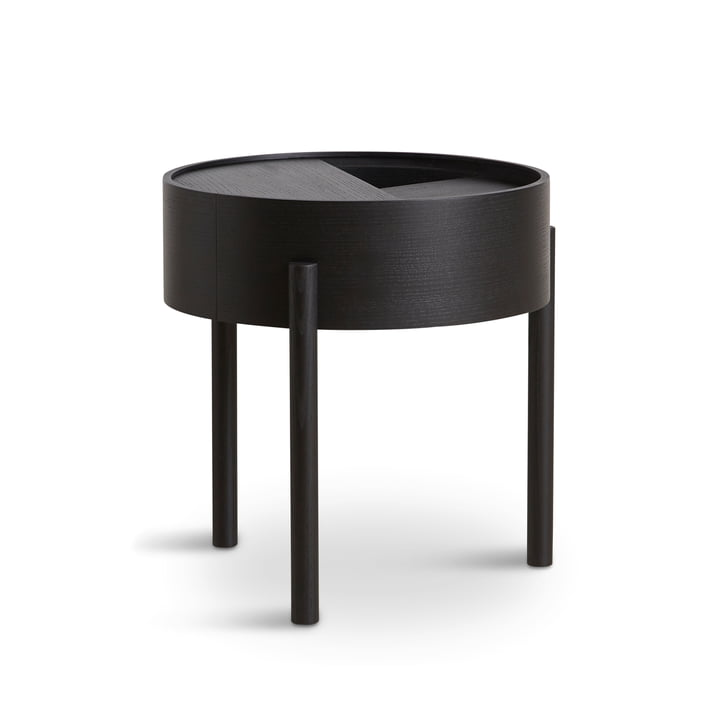 Arc side table Ø 42 cm H 45 cm from Woud in ash black lacquered