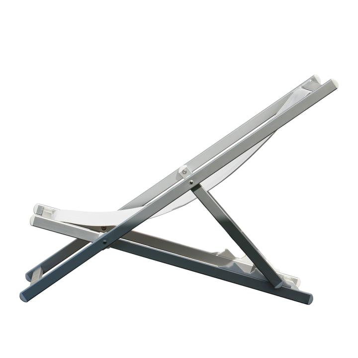 Rimini Deckchair by Jan Kurtz in aluminium / white