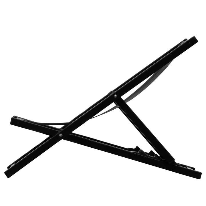 Rimini Deckchair by Jan Kurtz in black