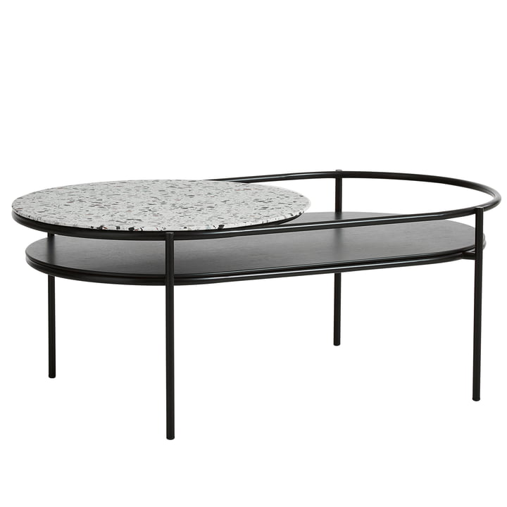 Verde coffee table from Woud in Terrazzo white