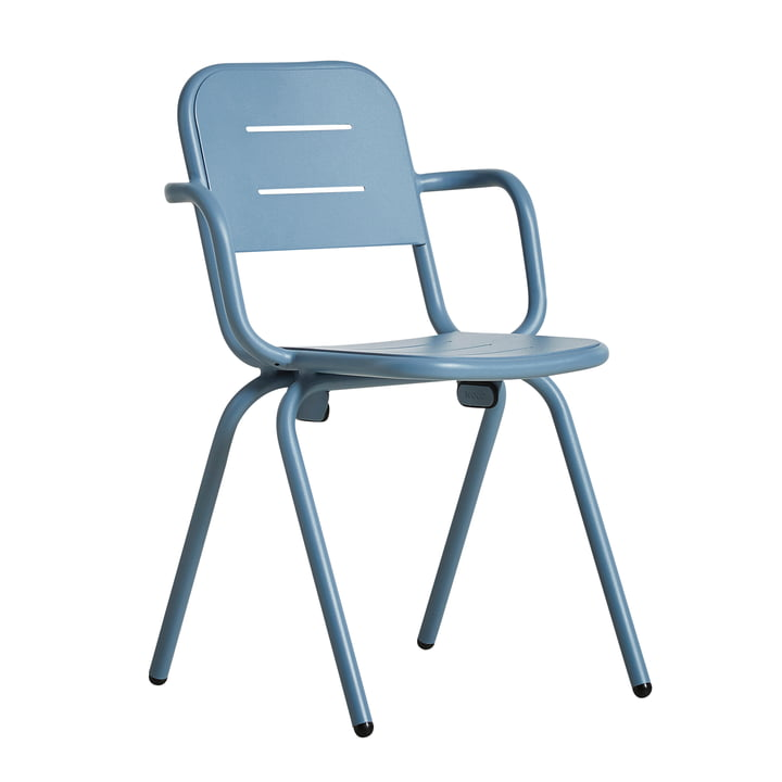 Ray Café Armchair by Woud in blue