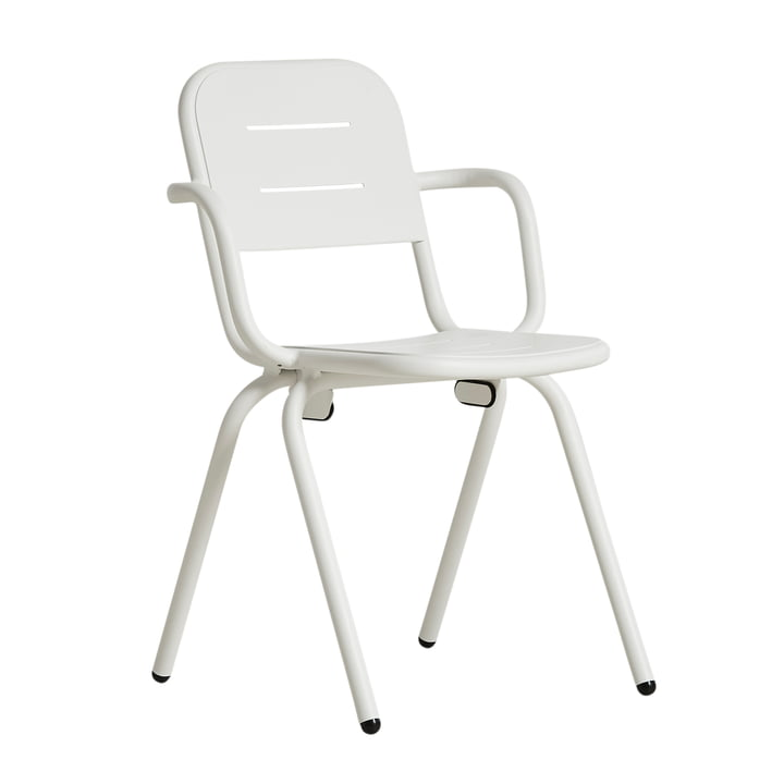 Ray Café Armchair by Woud in white