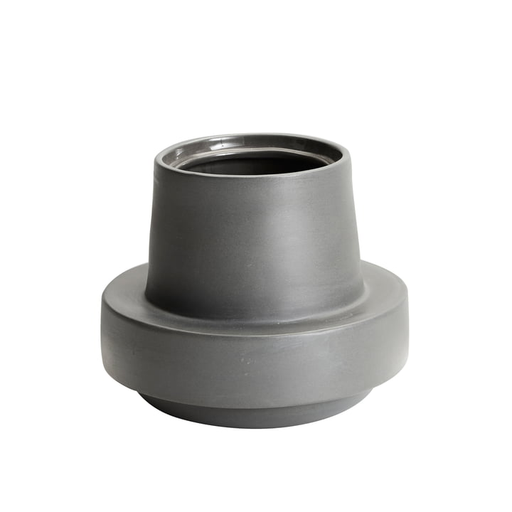 Limp flowerpot H 13,5 cm from Woud in dark grey