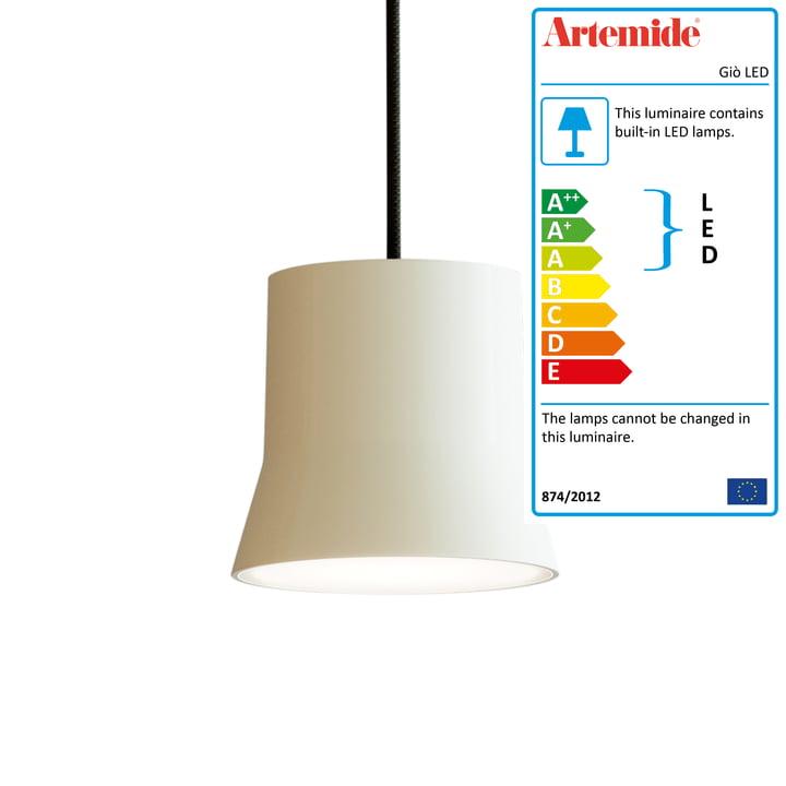 Giò LED pendant luminaire from Artemide in white