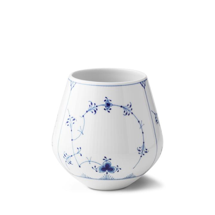 Musselmalet Ribbed Vase medium H 15 cm from Royal Copenhagen