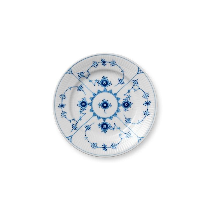 Musselmalet Ribbed plate flat Ø 17 cm from Royal Copenhagen
