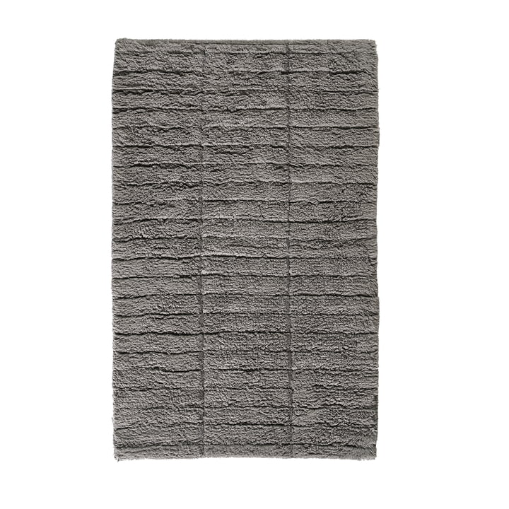 Soft Tiles bathroom mat, 80 x 50 cm in stone gray by Zone Denmark