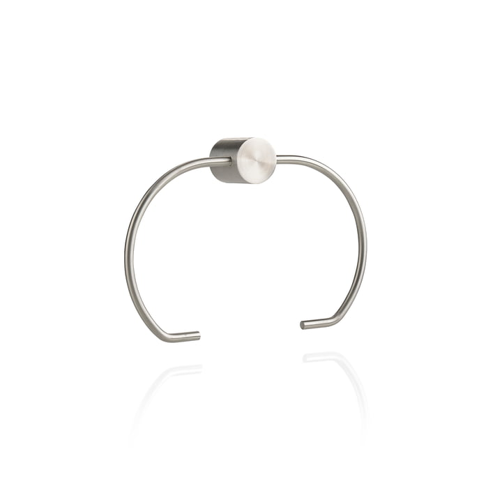 Hooked on Rings Toilet paper holder in stainless steel by Zone Denmark