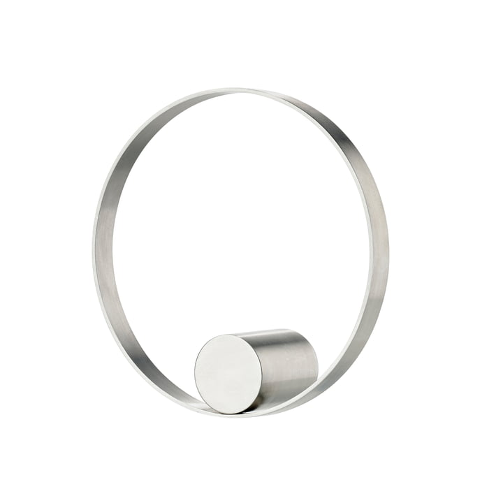 Hooked on Rings wall hook Ø 10 cm in stainless steel from Zone Denmark